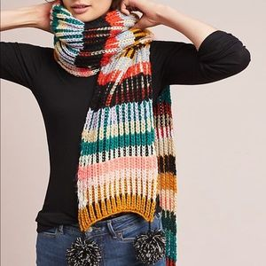 Caroline Kaufman for Anthropologie Striped Scarf